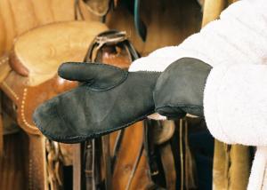 Sheepskin Mittens Black