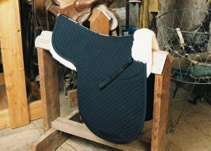 Dressage Numnah with Pommel Roll Black