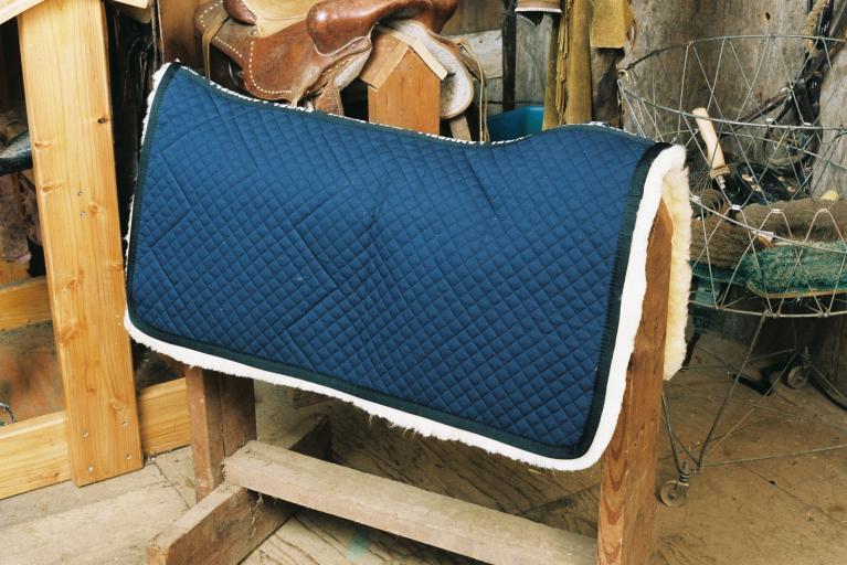 Western Saddle Blanket Blue