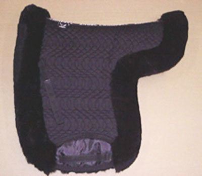 Contoured Dressage Large Saddle Pad Black