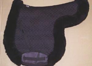 Contoured All Purpose Large Saddle Pad Black