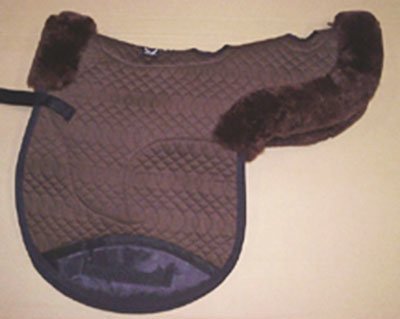 Contoured All Purpose Large Saddle Pad Vented Brown