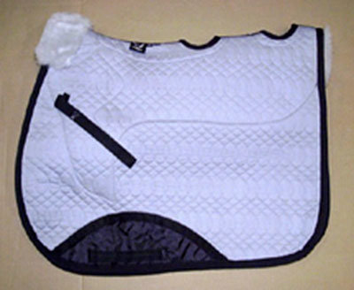 Full Quilted All Purpose Large Vented Saddle Pad Silver