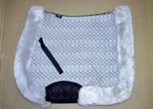 Full Quilted All Purpose Large Saddle Pad Silver No Lining