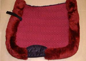 Full Quilted All Purpose Large Saddle Pad Burgundy