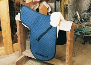 Dressage Numnah with Pommel Roll Blue