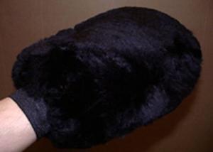 Sheepskin Grooming Washmitt Black