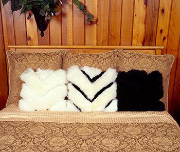Sheepskin Pillows Chevron