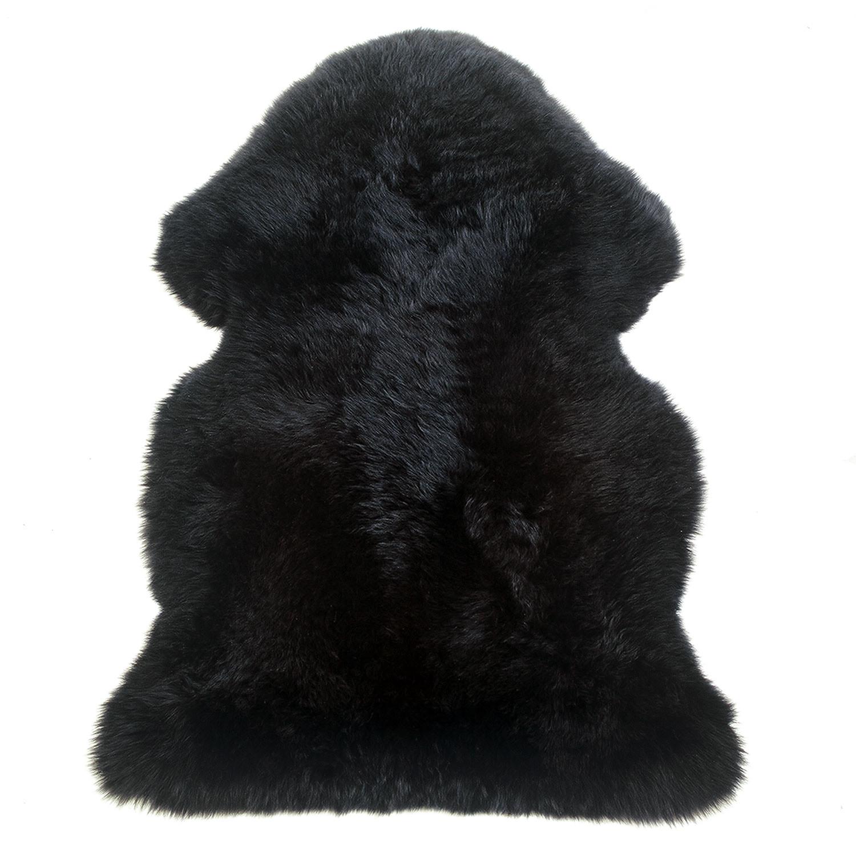 Sheepskin Rug Single Pelt Black