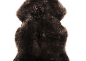 Sheepskin Rug Single Pelt Brown