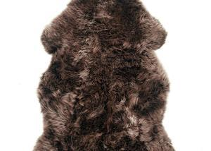 Sheepskin Rug Brown with Taupe Tips