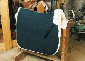 Dressage Saddle Blanket with Complete Lining Black