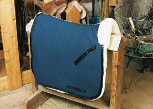 Dressage Saddle Blanket with Complete Lining Blue