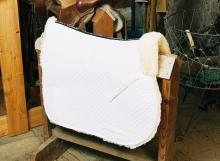 All Purpose Saddle Blanket with Complete Lining White