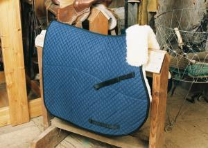All Purpose Saddle Blanket with Pommel Roll Blue