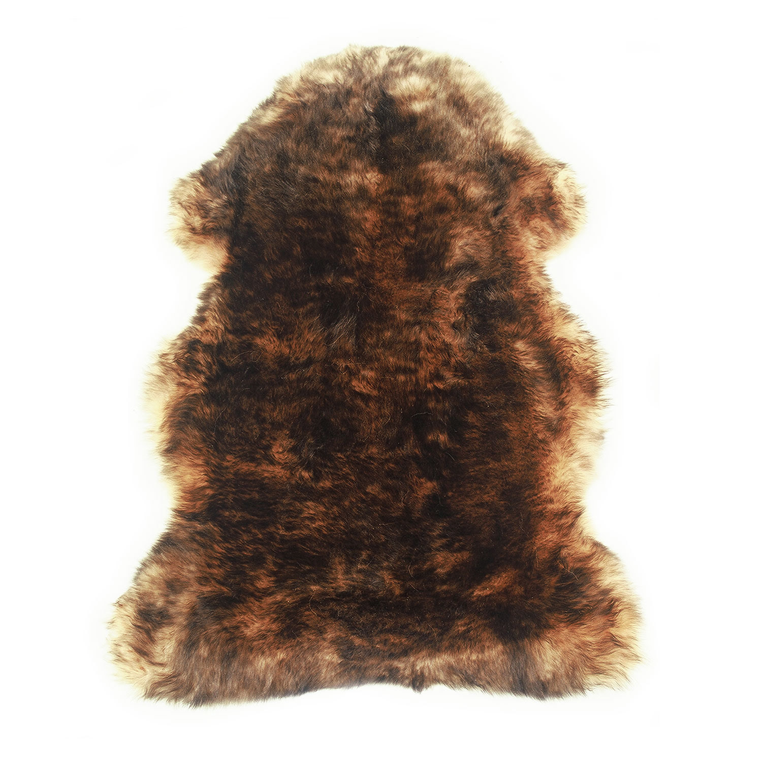 Sheepskin Rug Single Pelt Tan with Brown Tips