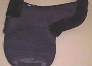 Contoured Saddle Pad Dressage Large Black