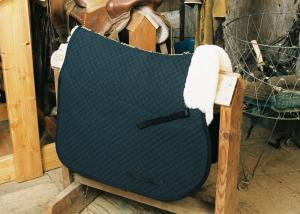 All Purpose Saddle Blanket with Pommel Roll Black