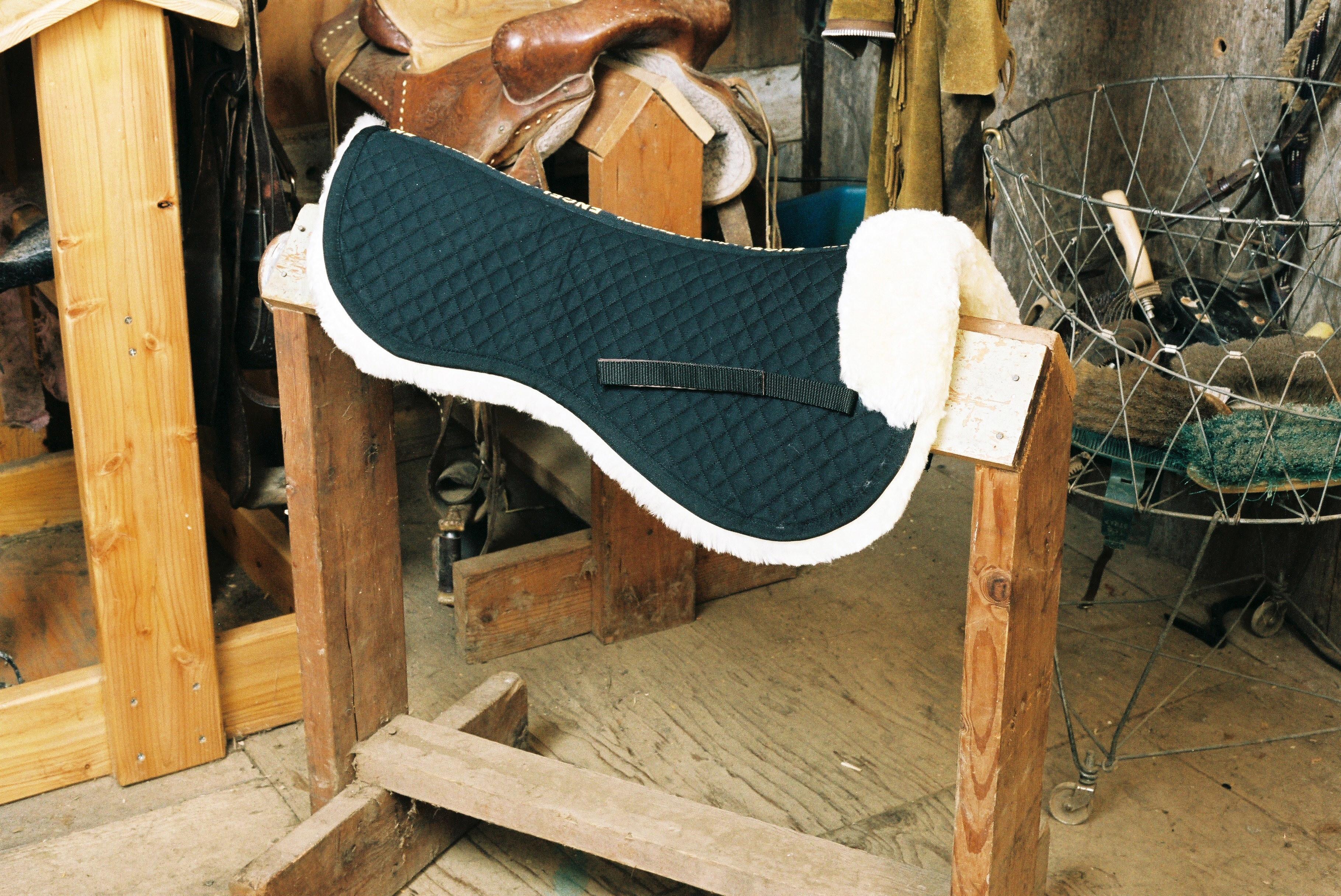 All Purpose / Dressage Half Pad with Pommel Roll Black