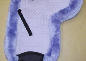 Contoured Dressage Large Saddle Pad Lilac