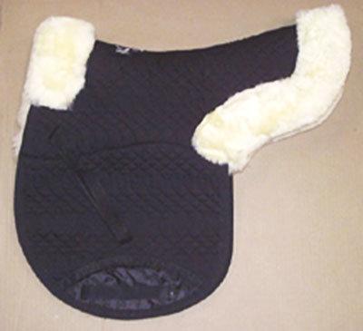 Contoured All Purpose Medium Saddle Pad Black