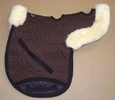 Contoured All Purpose Medium Saddle Pad Vented Brown