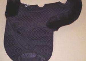 Contoured All Purpose Medium Saddle Pad Vented Black