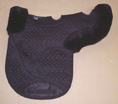 Contoured All Purpose Medium Saddle Pad Vented Black