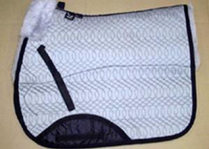 Full Quilted All Purpose Large Saddle Pad Silver