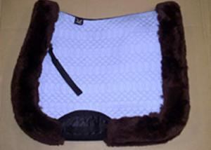 Full Quilted All Purpose Large Saddle Pad Light Blue Brown
