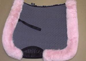 Full Quilted All Purpose Large Saddle Pad Charcoal Pink
