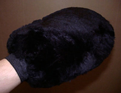 Sheepskin Grooming Washmitt Black