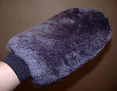 Sheepskin Grooming Washmitt Charcoal