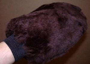 Sheepskin Grooming Washmitt Brown