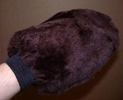 Sheepskin Grooming Washmitt Brown