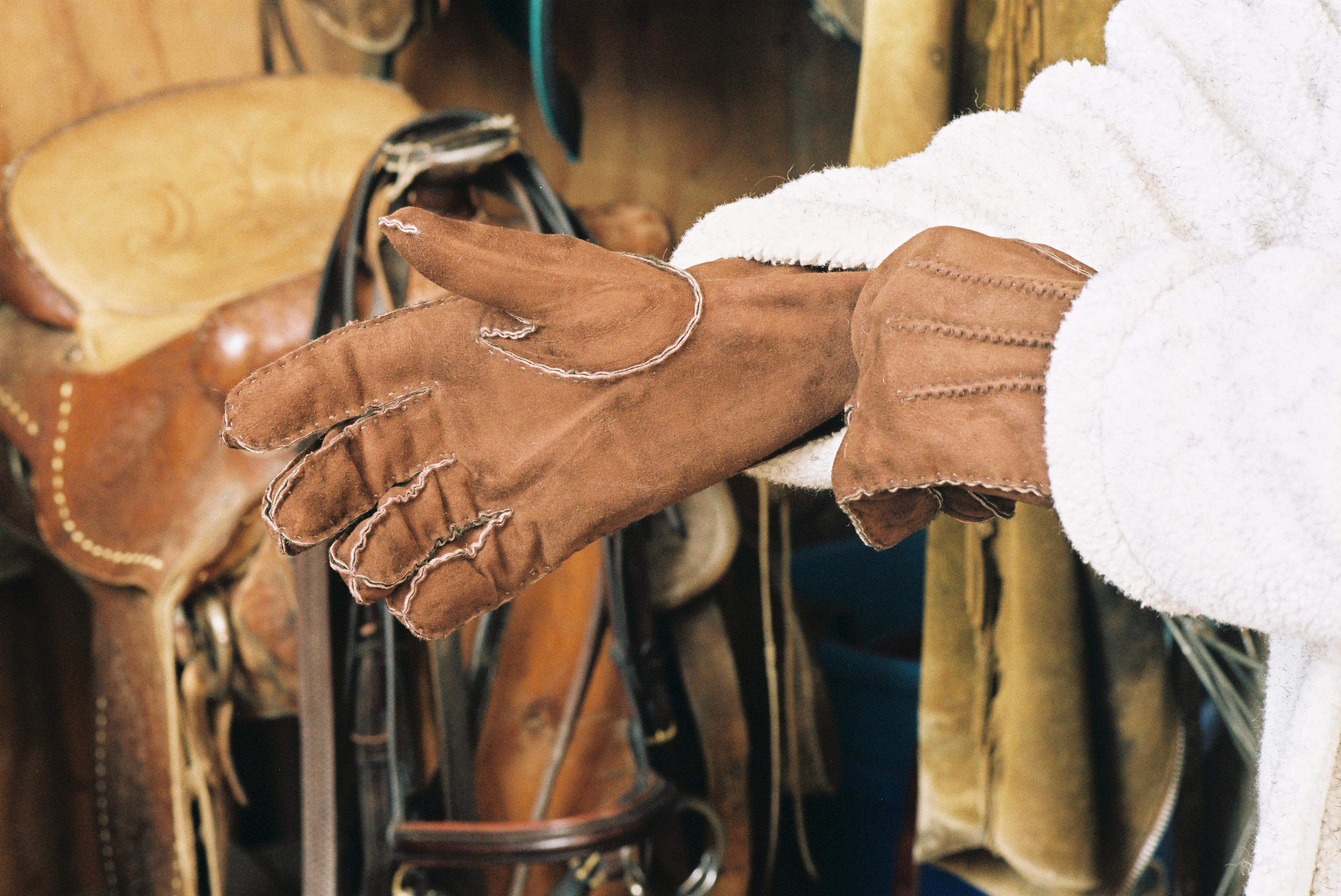 Sheepskin Gloves Brown