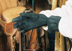 Sheepskin Gloves Black