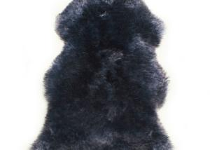 Sheepskin Rug Single Pelt Blue with Black Tips