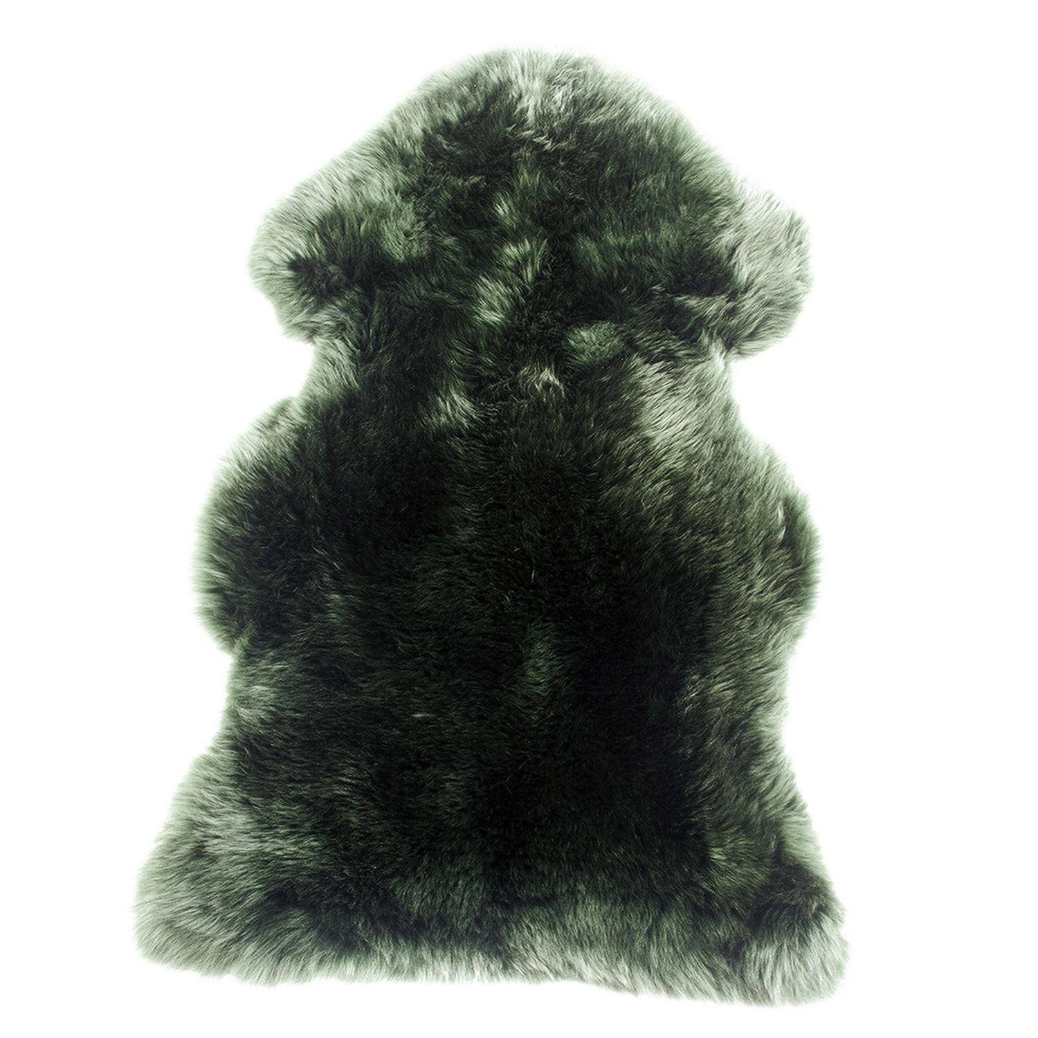 Sheepskin Rug Single Pelt Evergreen