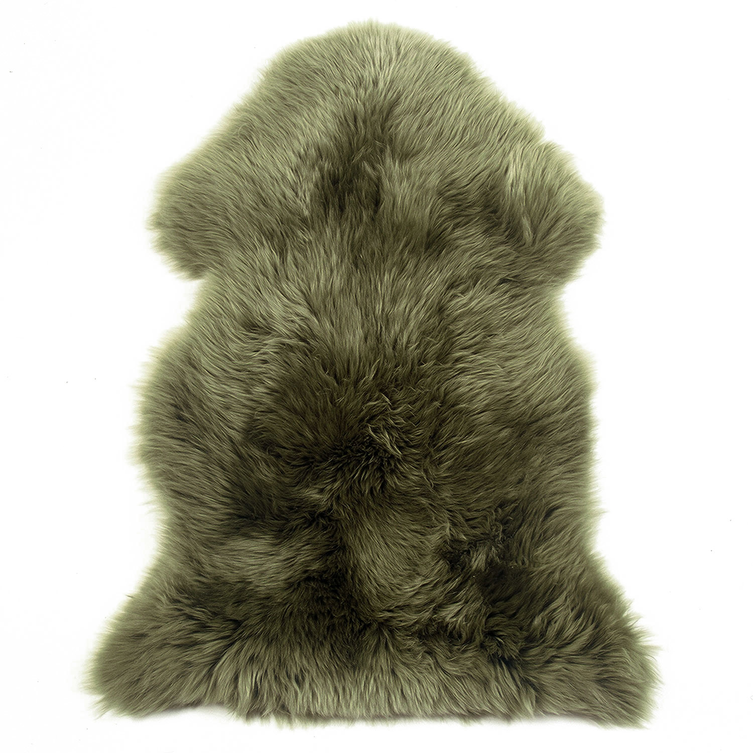 Sheepskin Rug Single Pelt Moss Green