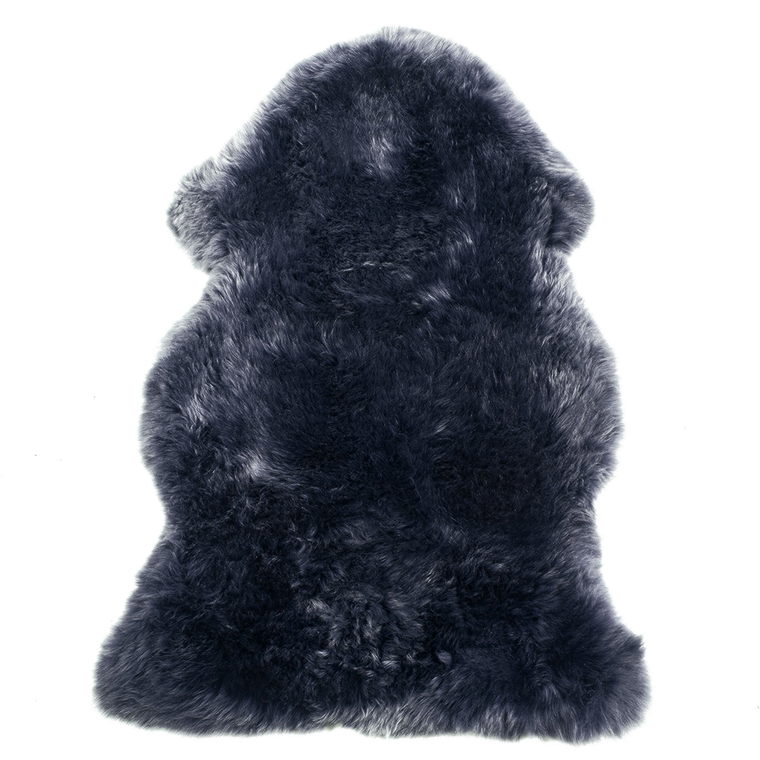 Sheepskin Rug Single Pelt Navy