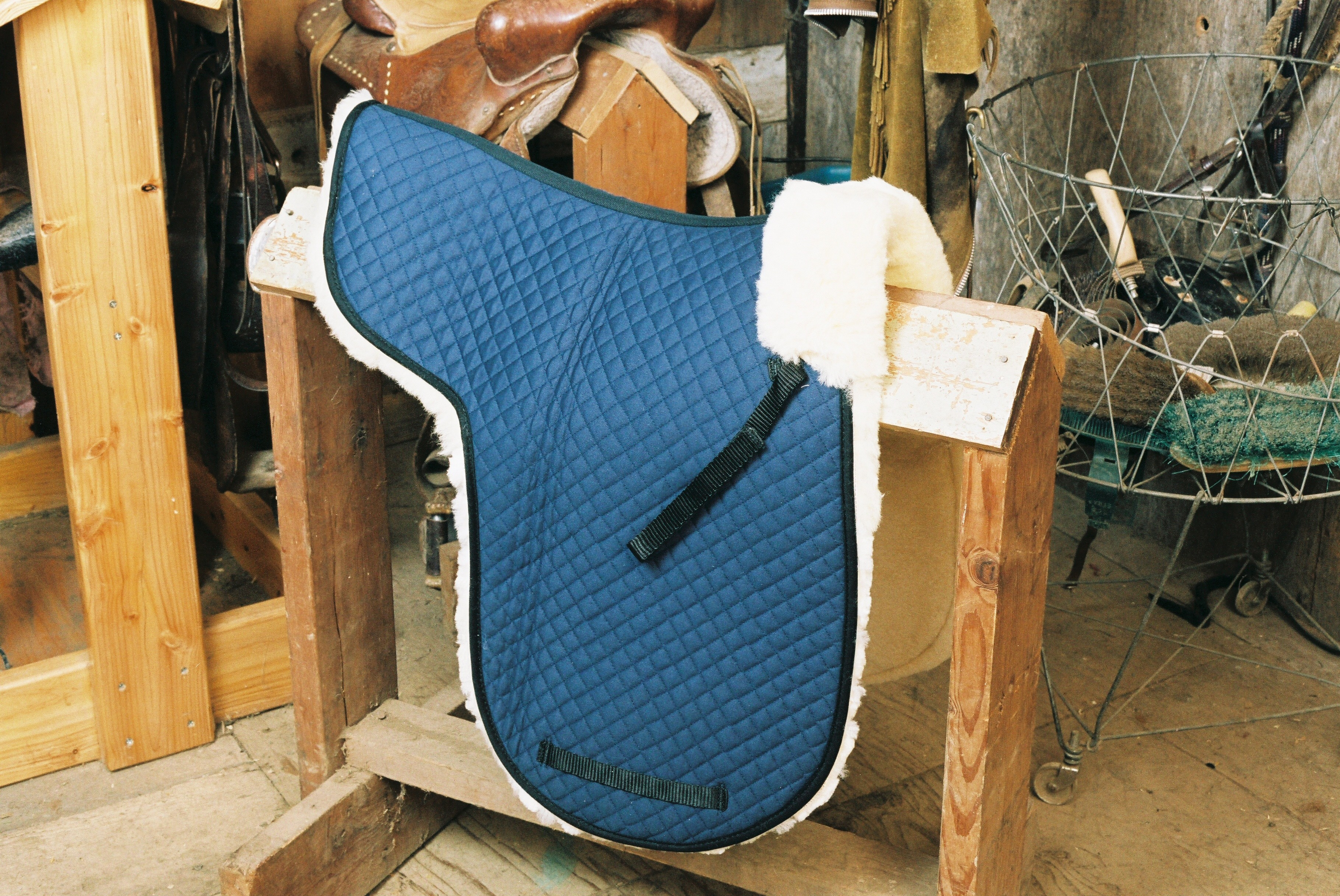 Dressage Numnah with Complete Lining Blue