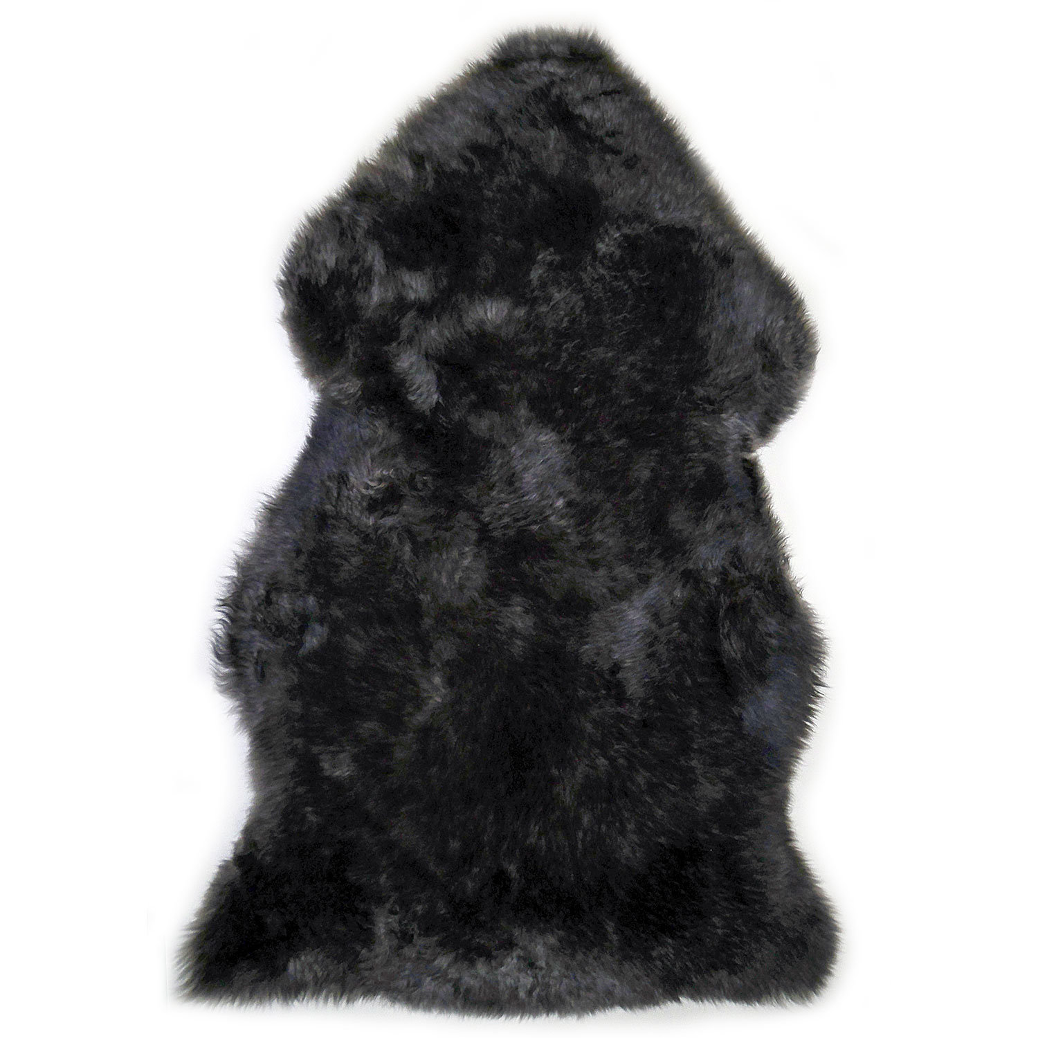 Sheepskin Rug Single Pelt Pewter with Black Tips