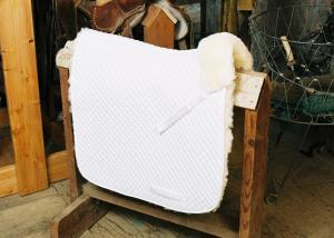 Dressage Saddle Blanket with Complete Lining White