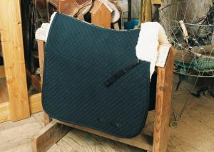 Dressage Saddle Blanket with Pommel Roll Black
