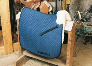 Dressage Saddle Blanket with Pommel Roll Blue