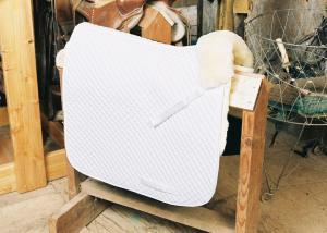 Dressage Saddle Blanket with Pommel Roll White
