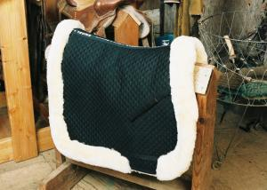 All Purpose Saddle Blanket with Complete Lining & Full Roll Edge Black