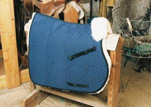 All Purpose Saddle Blanket with Complete Lining Blue