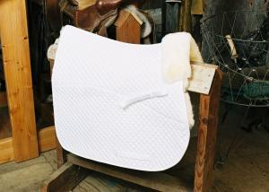 All Purpose Saddle Blanket with Pommel Roll White